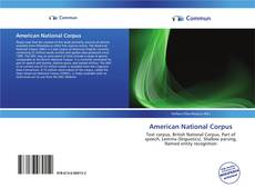 Bookcover of American National Corpus