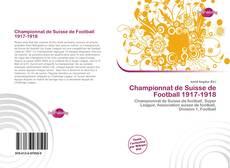 Capa do livro de Championnat de Suisse de Football 1917-1918