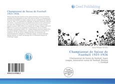 Capa do livro de Championnat de Suisse de Football 1925-1926