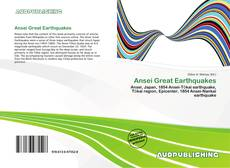 Bookcover of Ansei Great Earthquakes