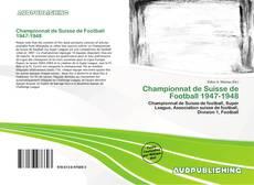 Capa do livro de Championnat de Suisse de Football 1947-1948