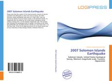 Bookcover of 2007 Solomon Islands Earthquake