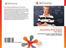 Buchcover von Carshalton High School for Girls