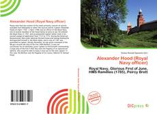 Bookcover of Alexander Hood (Royal Navy officer)
