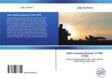 Capa do livro de John Leveson-Gower (1740-1792)