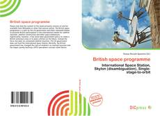 Bookcover of British space programme