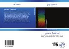 Luciana Caporaso kitap kapağı