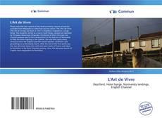 Bookcover of L'Art de Vivre