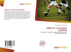 Bookcover of 2000–01 in Croatian Football