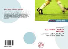 Portada del libro de 2007–08 in Croatian Football