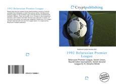 Portada del libro de 1992 Belarusian Premier League