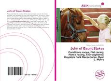Bookcover of John of Gaunt Stakes
