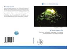 Обложка Micro trou noir