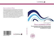 Buchcover von Sous-secrétaire d'État