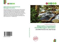 Bookcover of Alternative Investment Fund Managers Directive