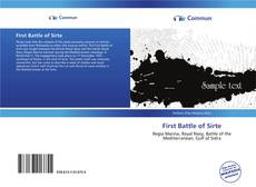 Bookcover of First Battle of Sirte
