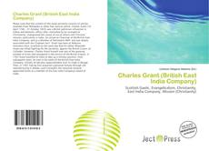 Bookcover of Charles Grant (British East India Company)