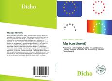 Bookcover of Mu (continent)