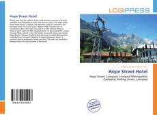 Bookcover of Hope Street Hotel