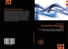Buchcover von Conseil Privé (Royaume-Uni)