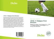 Portada del libro de 1910–11 Belgian First Division
