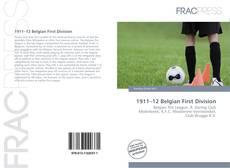 Portada del libro de 1911–12 Belgian First Division