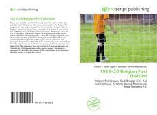 Portada del libro de 1919–20 Belgian First Division
