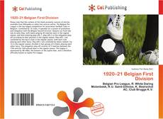 Portada del libro de 1920–21 Belgian First Division