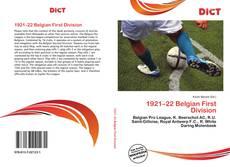 Portada del libro de 1921–22 Belgian First Division