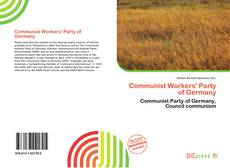 Bookcover of Communist Workers' Party of Germany
