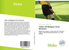 Portada del libro de 1925–26 Belgian First Division