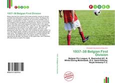 Bookcover of 1937–38 Belgian First Division