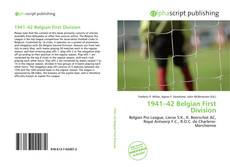 Portada del libro de 1941–42 Belgian First Division