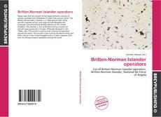 Capa do livro de Britten-Norman Islander operators