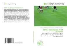 Portada del libro de 1945–46 Belgian First Division