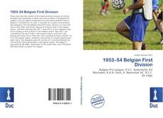 Portada del libro de 1953–54 Belgian First Division