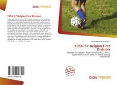 Portada del libro de 1956–57 Belgian First Division