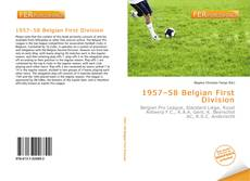 Portada del libro de 1957–58 Belgian First Division