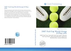 Copertina di 2007 Fed Cup World Group II Play-offs