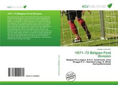 Bookcover of 1971–72 Belgian First Division
