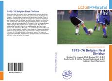 Portada del libro de 1975–76 Belgian First Division