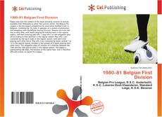 Обложка 1980–81 Belgian First Division