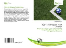 Portada del libro de 1984–85 Belgian First Division