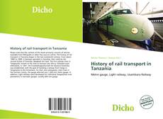 Buchcover von History of rail transport in Tanzania