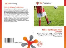Portada del libro de 1985–86 Belgian First Division
