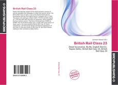Couverture de British Rail Class 23