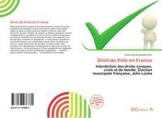 Droit de Vote en France kitap kapağı
