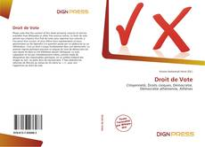 Bookcover of Droit de Vote
