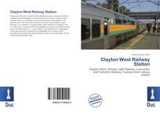 Portada del libro de Clayton West Railway Station
