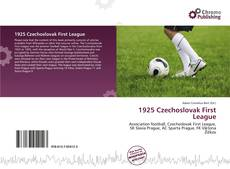 1925 Czechoslovak First League kitap kapağı